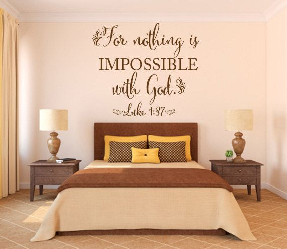 Christian Wall Decal. For Nothing Is By WeAreVinylDesigns On Etsy