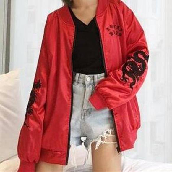 d4a884d14 Inferno Embroidered Oversized Jacket (2 Colors) in 2019 | fashion ...