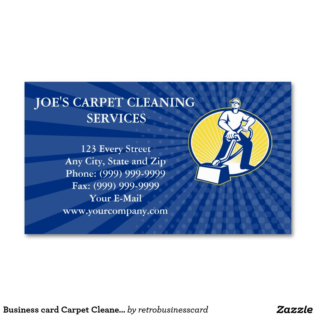 Business Card Carpet Cleaner Vacuum Cleaning Machi Zazzle Com Cleaning Business Cards Carpet Cleaner Vacuum Zazzle Business Cards