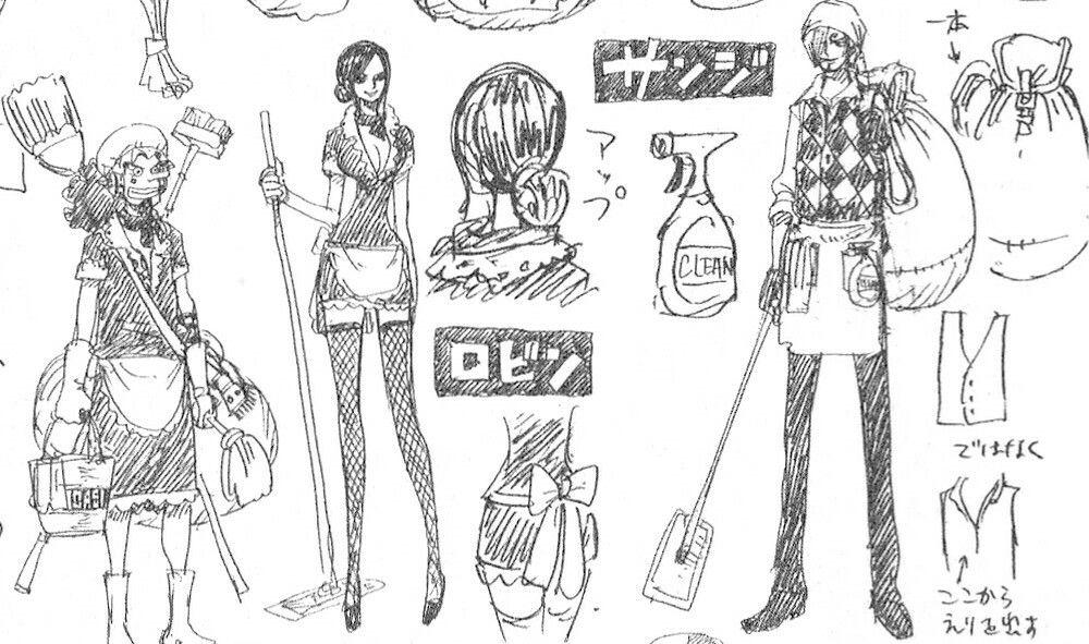 Character Design One Piece : One piece film gold nico robin usopp sanji