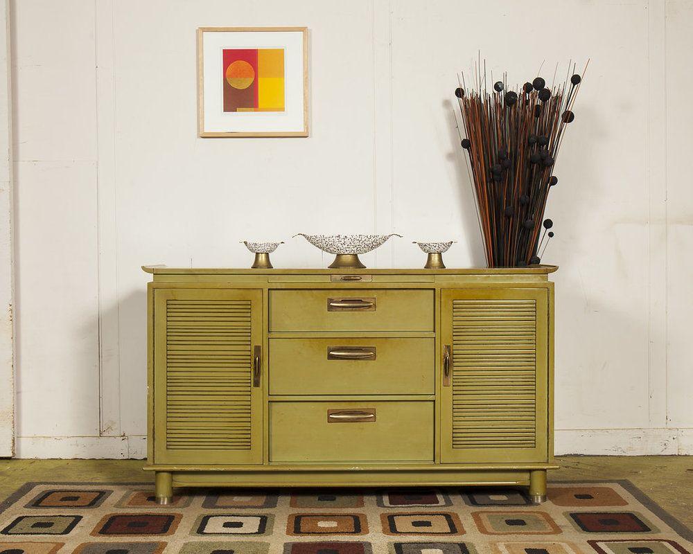 1960s Avocado Buffet Danish modern furniture, Modern