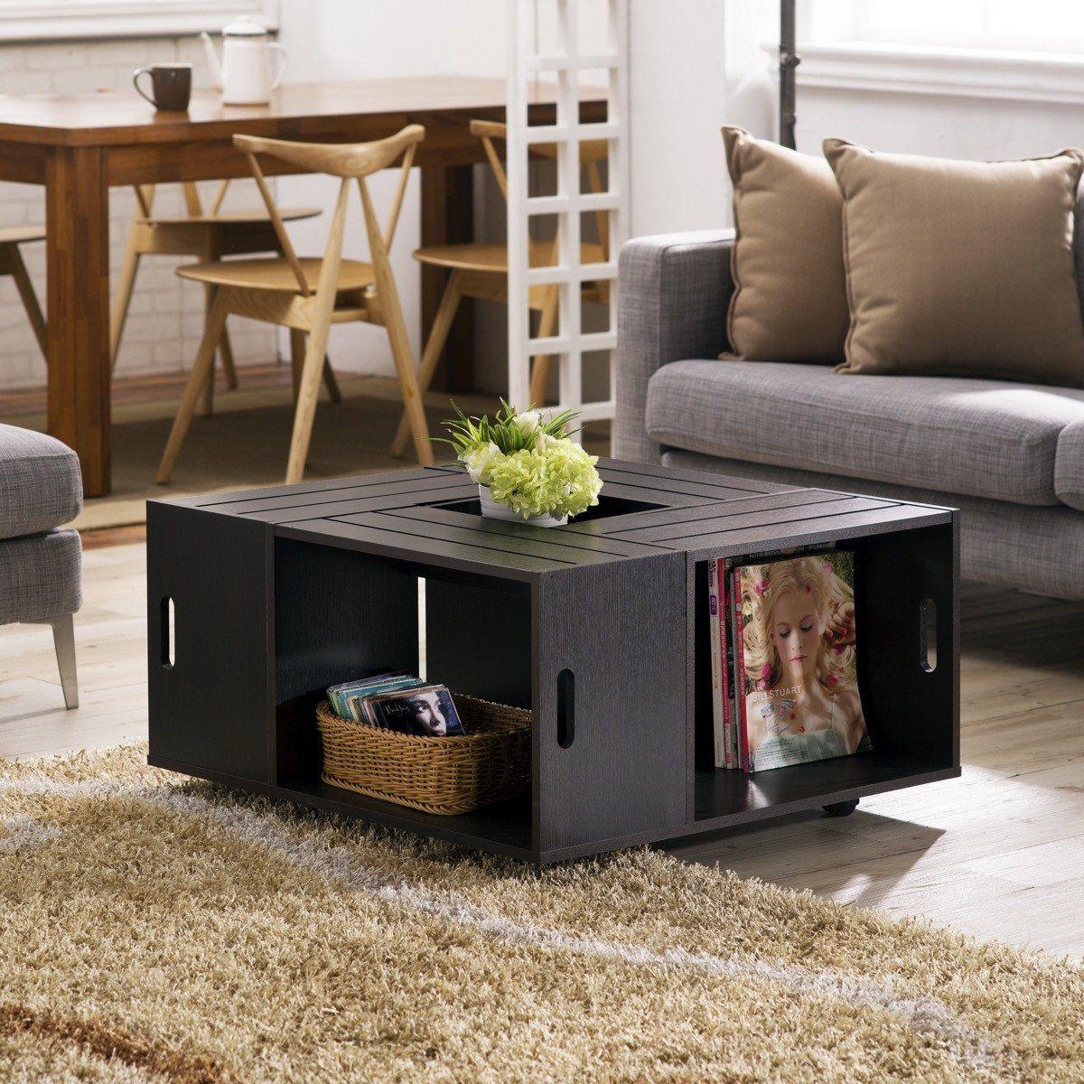 Furniture Of America Zuko Multi Storage Crate Coffee Table Espresso Wooden Coffee Table Designs Coffee Table With Drawers Rustic Coffee Tables [ 1200 x 1200 Pixel ]