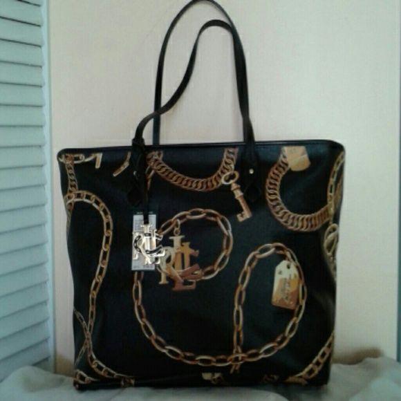 a47715e13877 Ralph Lauren tote bag Large black Ralph Lauren Halstead Classic tote