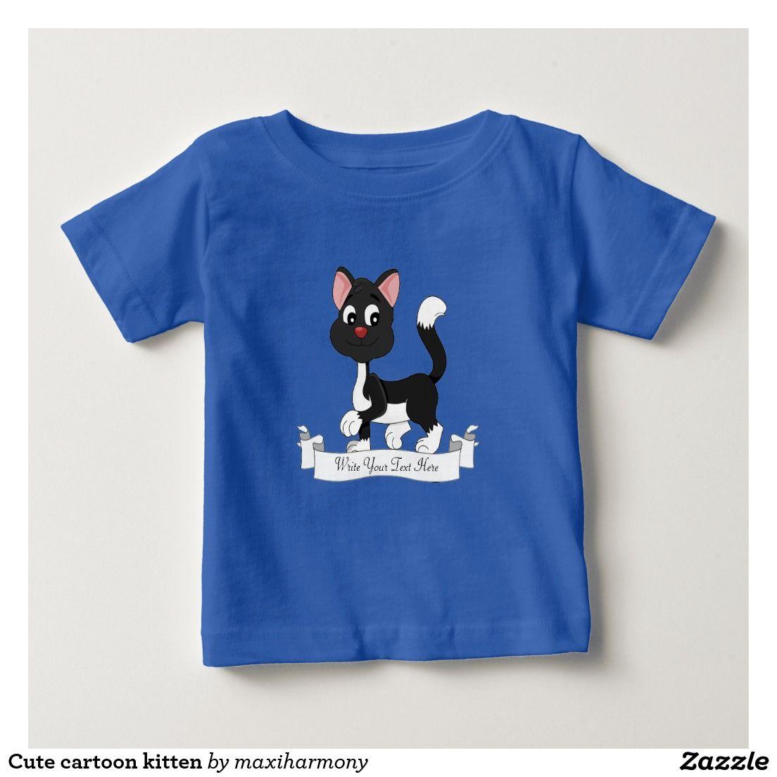 bf0a89f65e2f Cute cartoon kitten t shirts