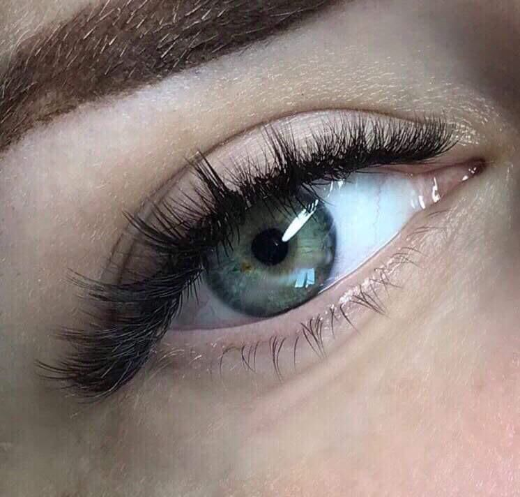 4c8a915db60 KimK style volume full set $180 Multiple short eyelash extensions are  applied to one single natural eyelash isolating one natural eyelash at a  time mixed ...