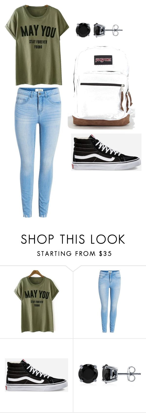 """""""Monday Outfit"""" by arieleuvia on Polyvore featuring Vans, BERRICLE and JanSport"""