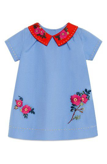 Gucci Gucci Stretch Cotton Poplin Dress (Baby Girls) available at #Nordstrom