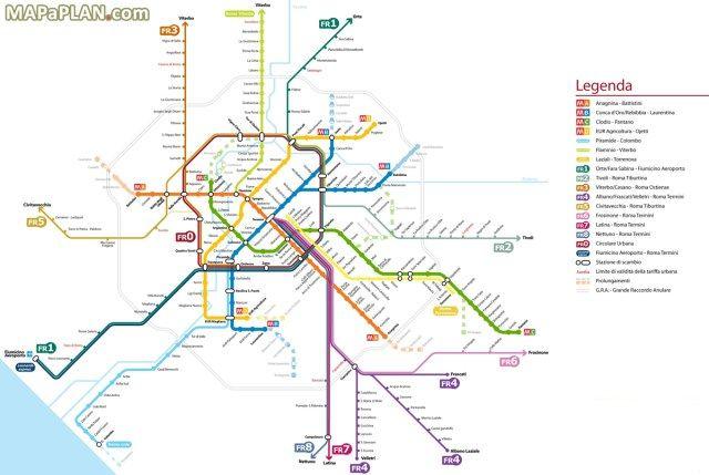 Rome Italy Subway Map.Rome Transportation Rome Rome Rome Italy Italy