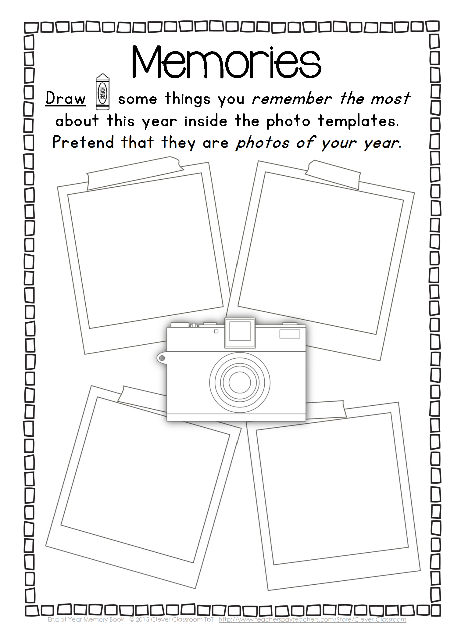 End of year memory book for elementary printable! By pinkpearls.