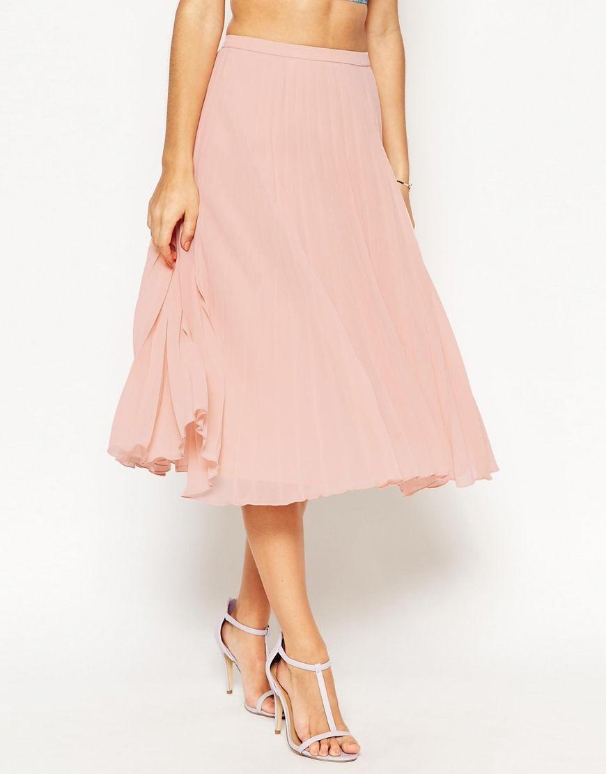 Image 4 of ASOS Pleated Midi Skirt   DIY   Pinterest   Formal ...