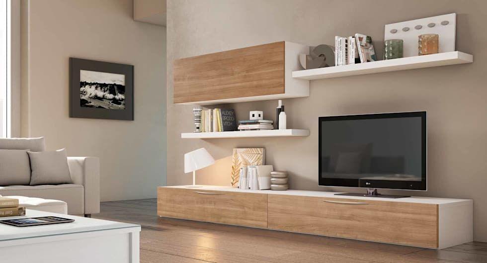 Salas de estar modernas por crea y decora muebles living for Muebles modernos para sala