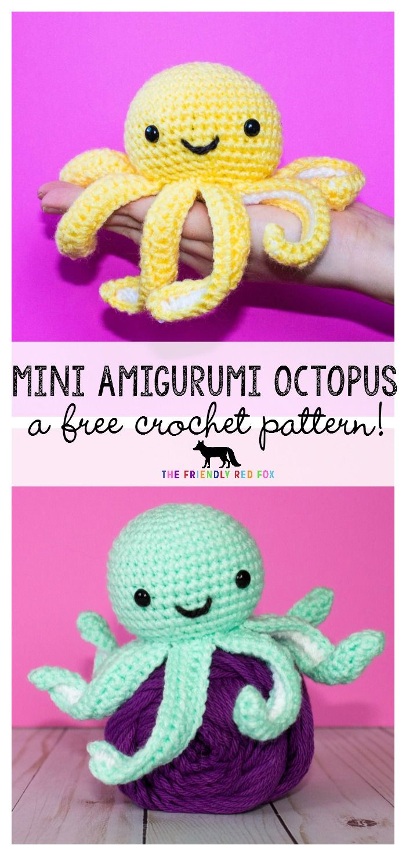 Free Crochet Pattern For Mini Octopus Octopus Crochet Pattern Crochet Dolls Crochet Octopus
