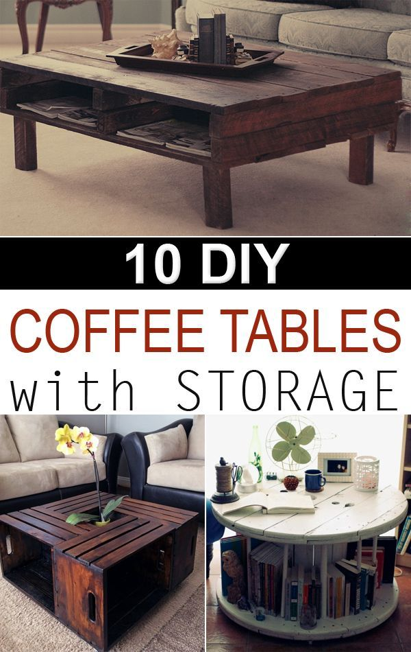 10 creative diy coffee tables with storage diy diy home decor diy coffee table living room. Black Bedroom Furniture Sets. Home Design Ideas
