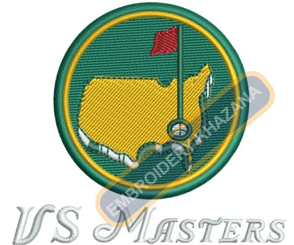 Us Masters Golf 2016 Machine Embroidery Design Pattern Us Masters Golf Masters Golf Embroidery Logo
