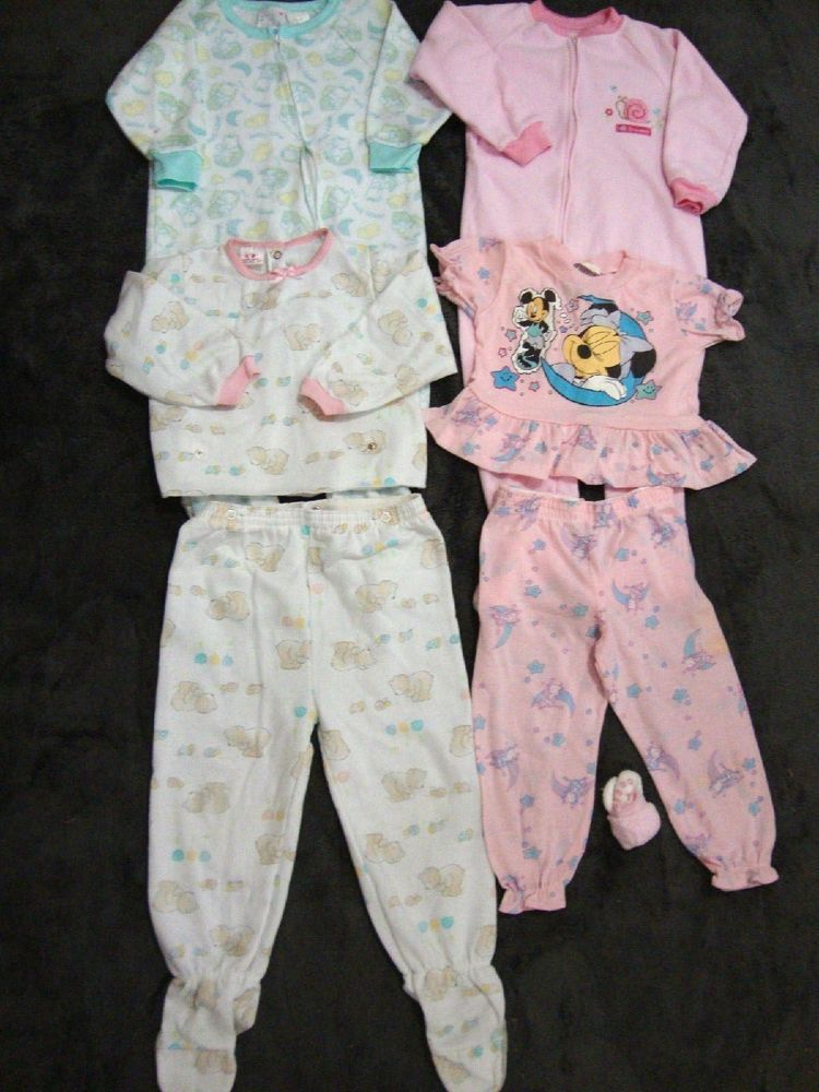 8ec96495c EUC 3T Baby Girl Toddler Fleece and 2 Pcs Footed Pajamas Sleepers ...