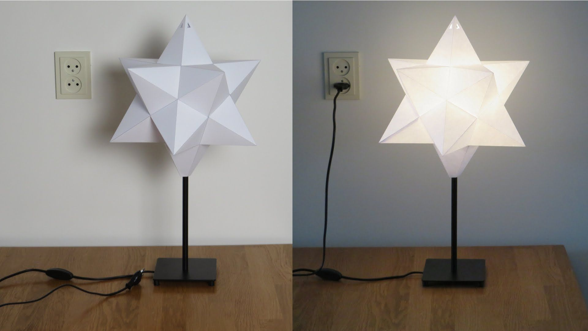 Paper star lampshade The small stellated dodecahedron is a star