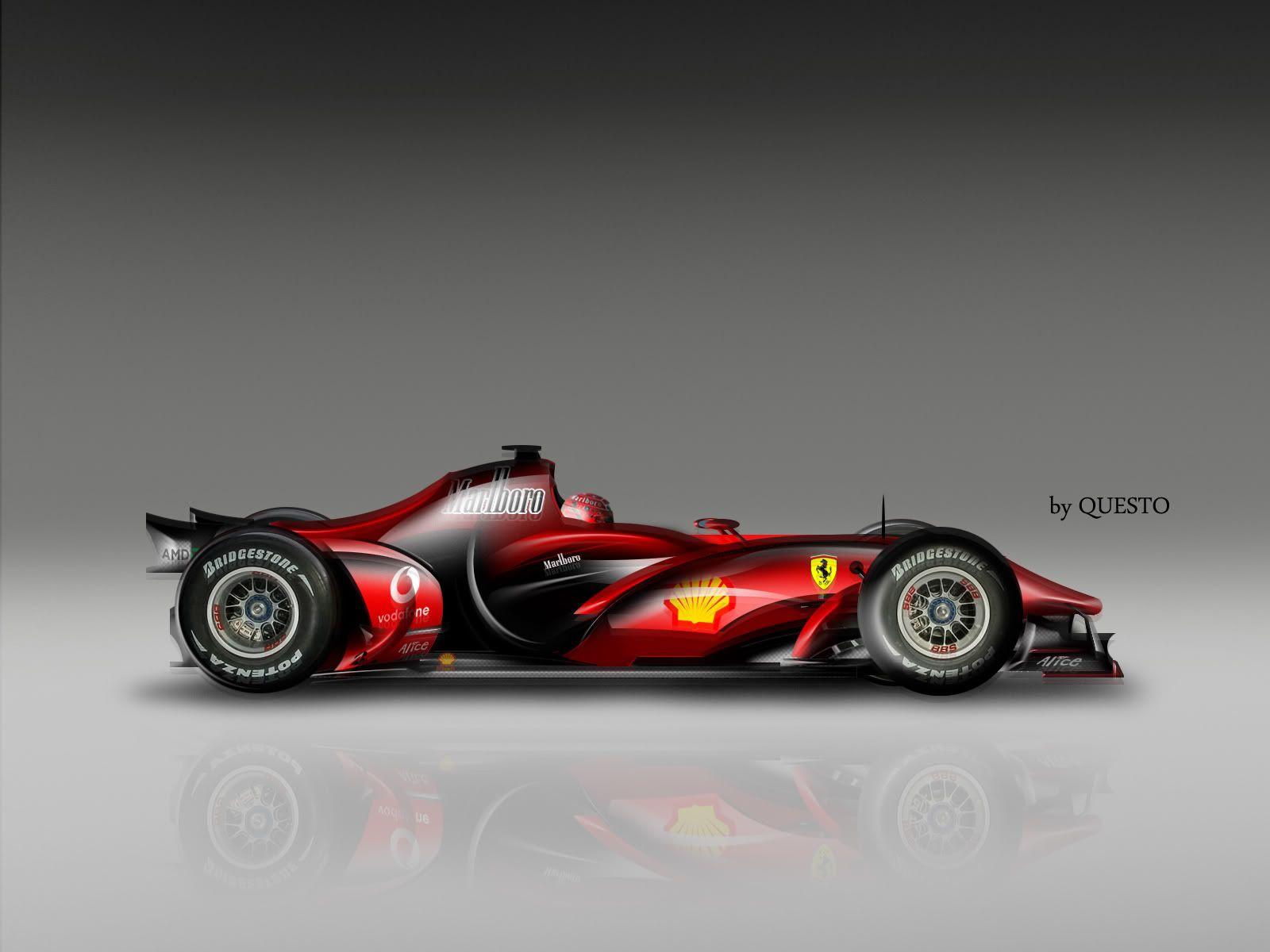 Ferrari 2020 F1 Concept Model Reveals With Images Ferrari F1