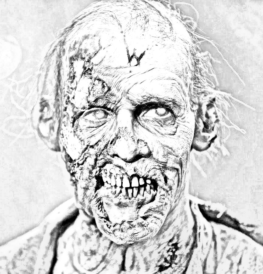 The Walking Dead Coloring Pages Walker Walking Dead Fan Art