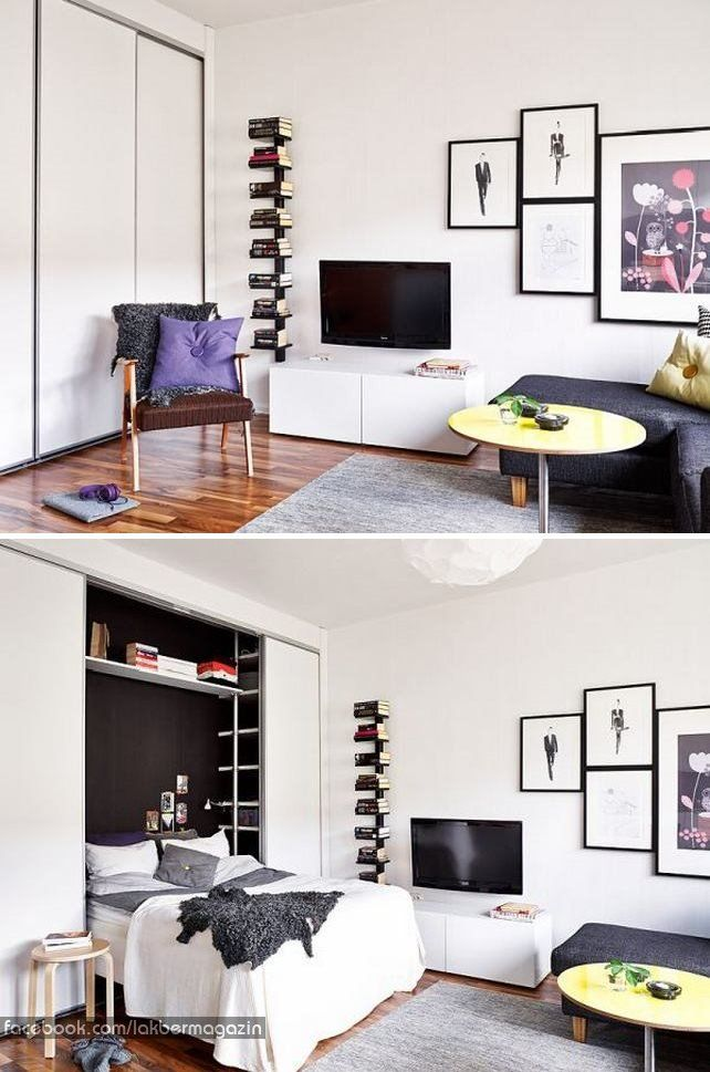What A Stylish Murphy Bed It Just Looks Like An Average Closet Delectable Four Bedroom Apartments Nyc Creative Interior
