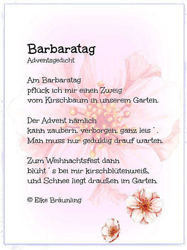 Barbaratag Elkes Kindergeschichten Gedichte Zum Advent Adventsgedichte Gedicht Weihnachten