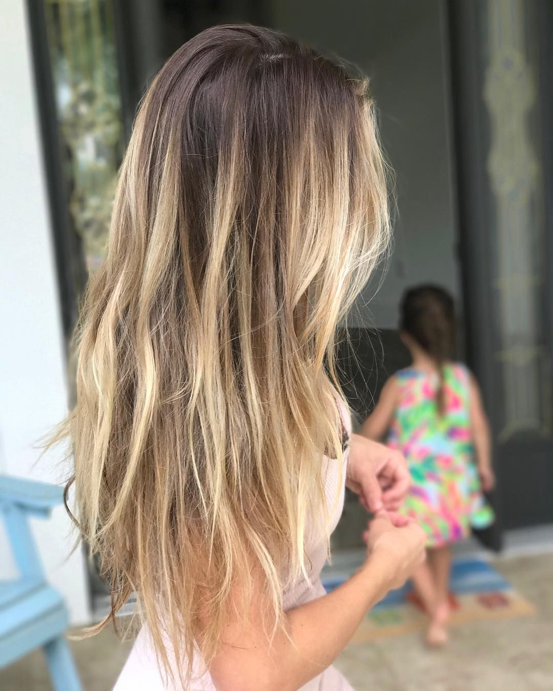 Love This Beauty Jesse James Inspired Haircolor Ombre Balayage Jessejames Brunette Blonde Shelinsky Hair Styles Hair Hair Inspiration Color
