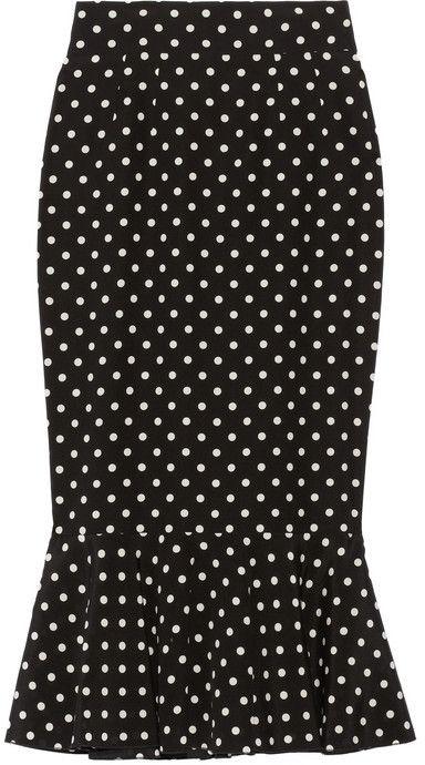 Dolce & Gabbana Polka-dot stretch-silk pencil skirt on shopstyle.com