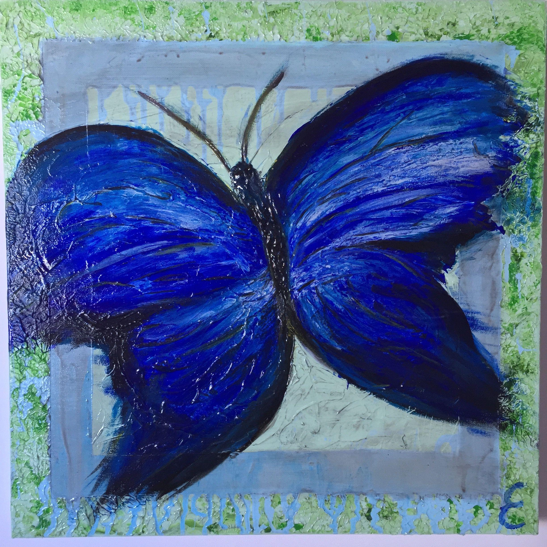 """Transformatie"" 50x50 cm. #E-cryls"