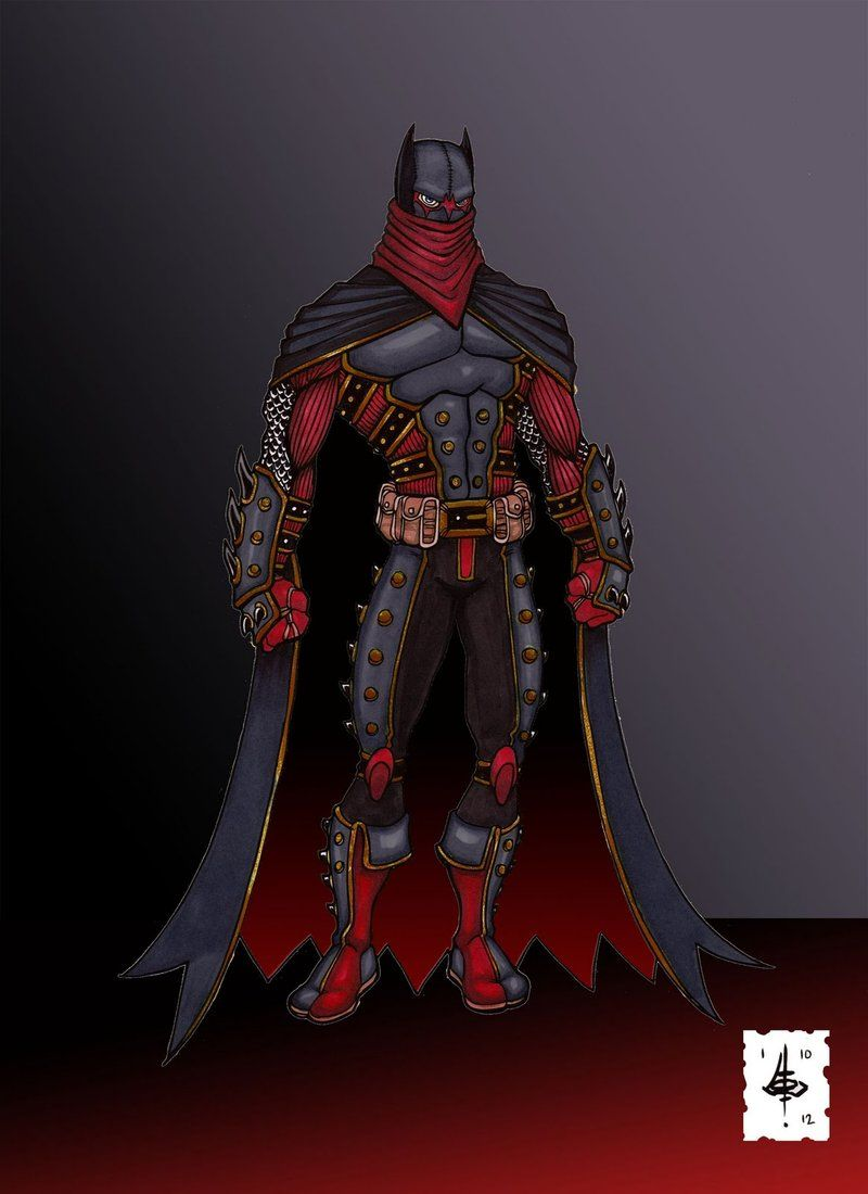 Red Batman - Google Dc Armor