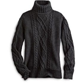 Turtleneck Sweater Womens Fisherman Cable-Knit Turtleneck:... review at Kaboodle