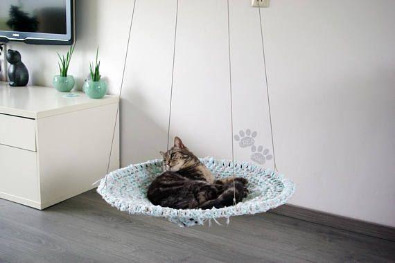 Cat Hammock Fuzzy Mint