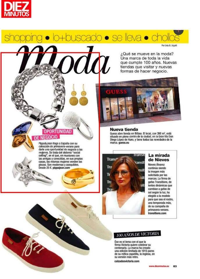 0fb7c5882218 ¡Muy felices con la aparición de Pippa   Jean en la Revista Diez Minutos!   moda  modamujer  prensa  joyas  bisuteria  pippajeans  pippaandjeans   revista ...