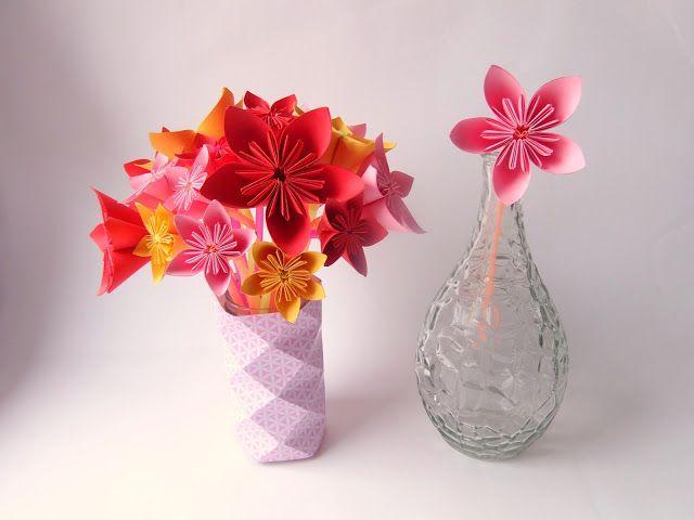 Tutoriel Deco Fleur Origami Simple Pailles Et Papier Bouquet De Fleurs Origami Origami Tutoriel Deco