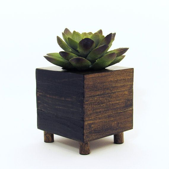 office planter boxes. small wood succulent planter box modern cube plant holder indoor garden cactus office boxes