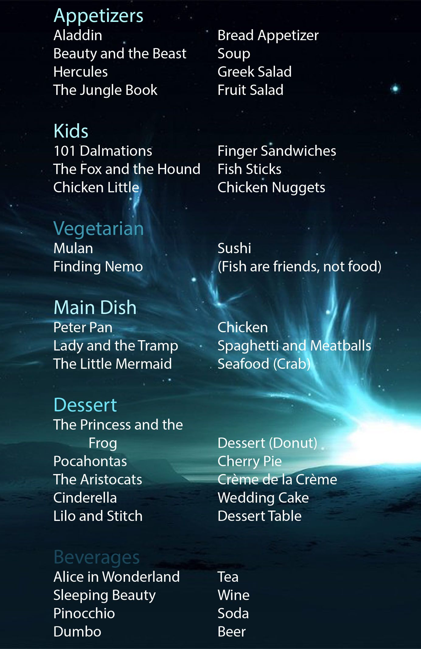 Heck Yeah I Came Up With This All On My Own 3 Disney Menu Future