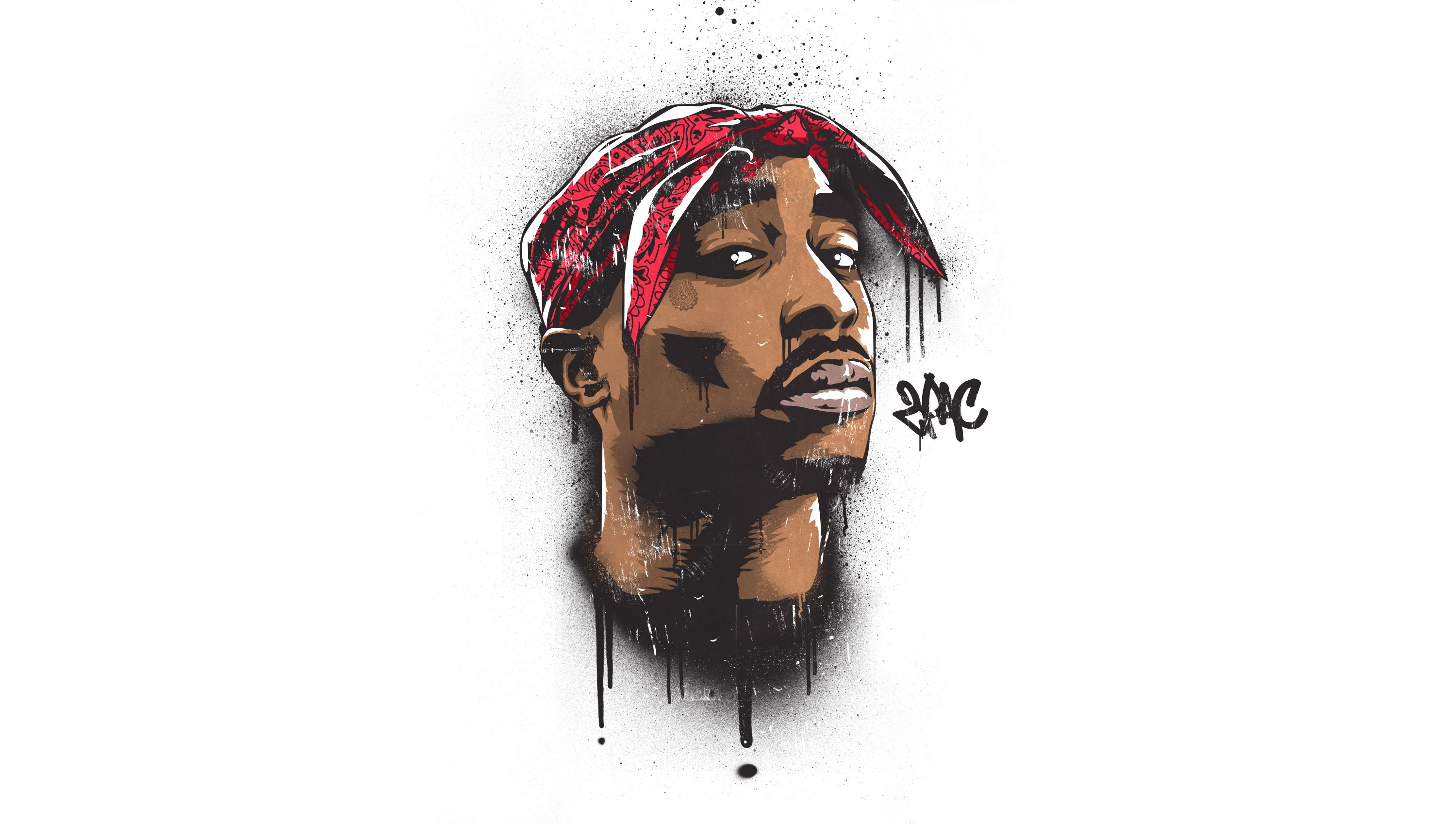 Tupac Wallpaper 2pac wallpaper, Portrait painting, 2pac