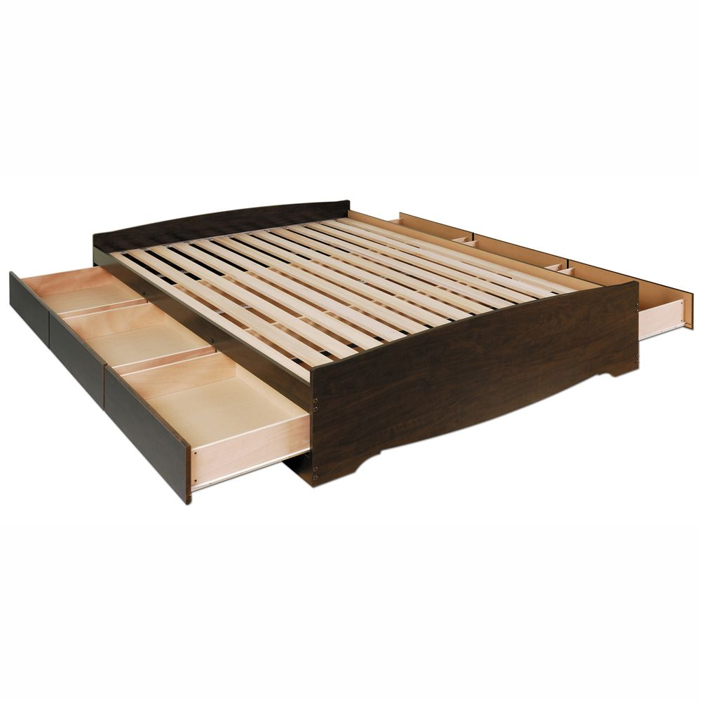 Manhattan Storage Platform Bed By Prepac Beds