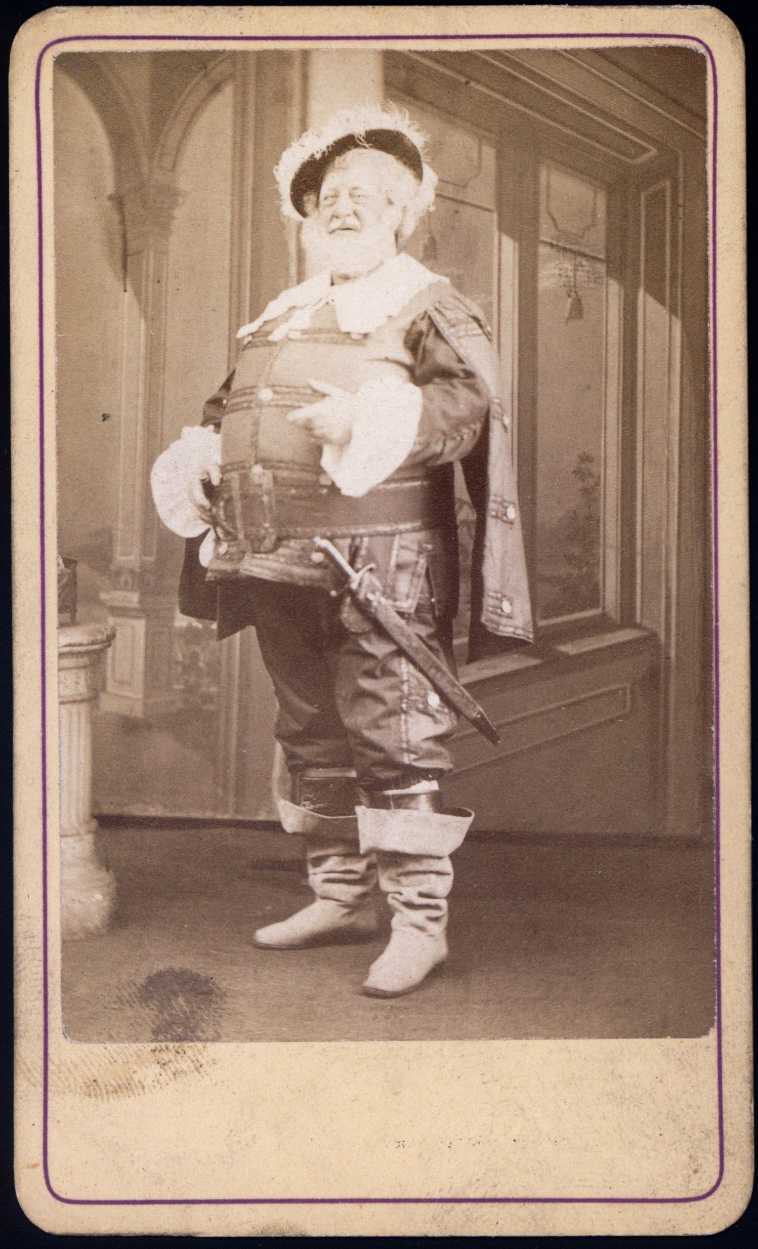 Ben DeBar as Falstaff. ca. 1867-1876