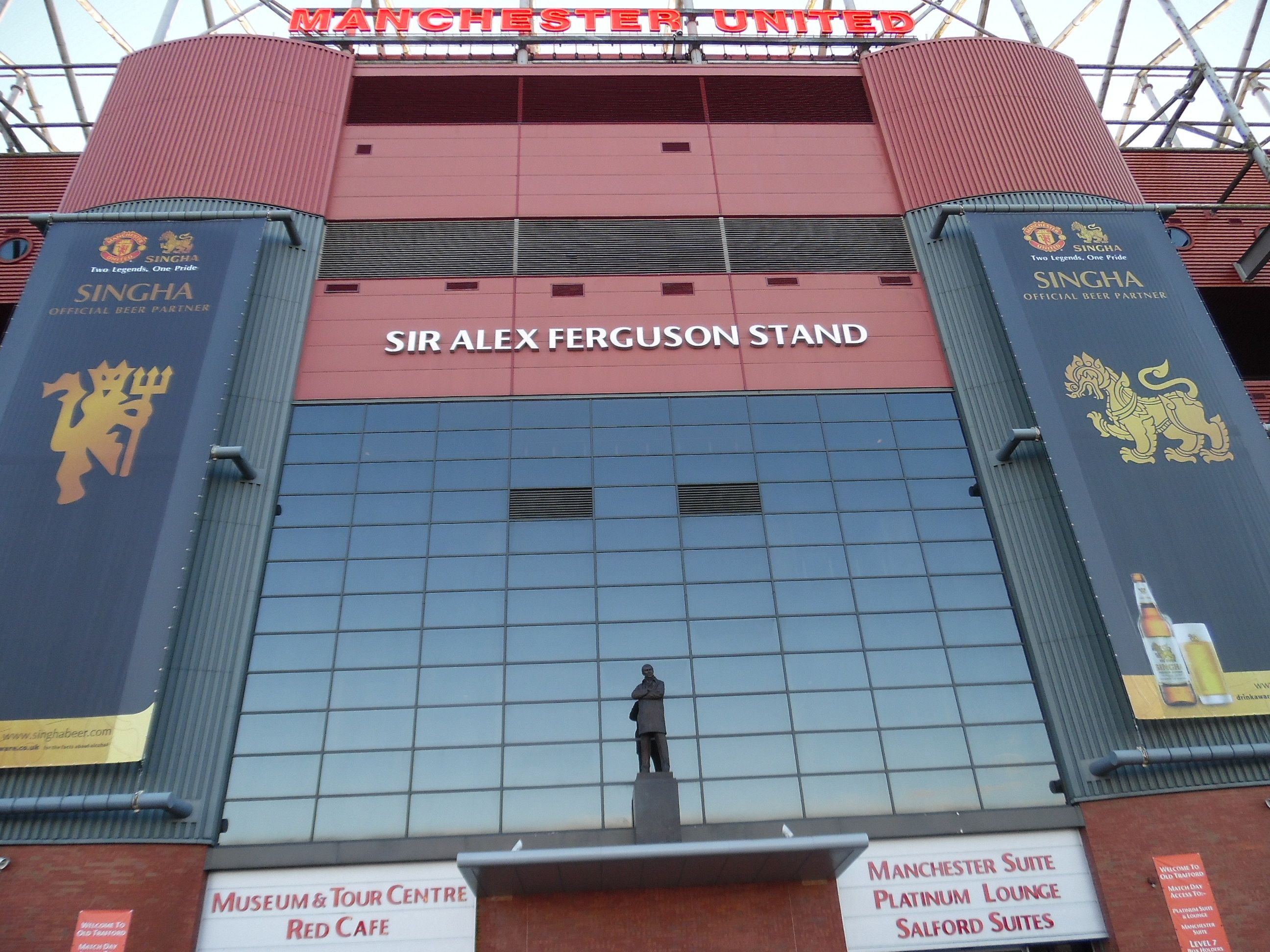 The Sir Alex Ferguson Stand of ManUnited's Old Trafford : you have to learn to be respectful. Even towards your worst / best enemy...