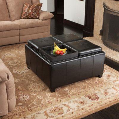 Marvelous Details About Wyndenhall Tyler Coffee Table Storage Ottoman Inzonedesignstudio Interior Chair Design Inzonedesignstudiocom