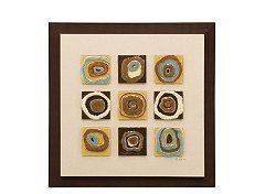 Fused Circles Framed Wall Art Framed Wall Art Online Wall Art