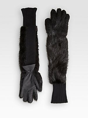 The best of Fall 2013 accessories - #Marni Fox Fur, Cashmere & Leather Gloves