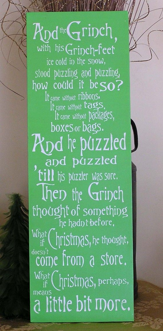 Grinch Sign The Grinch Christmas Decor Christmas Gift Grinch Saying Grinch Quote How The Grinch Stole Christmas Grinch Decor Grinch Stole Christmas Grinch Christmas Christmas Wall Decor