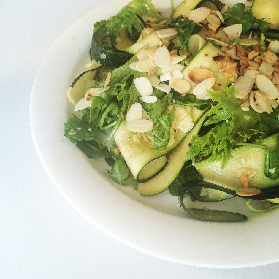 Summer Salad--Courgette & Vasterbotten Cheese | ScandiKitchen