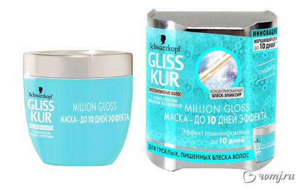 Маска-эффект ламинирования Million Gloss от Gliss Kur — Beauty Club