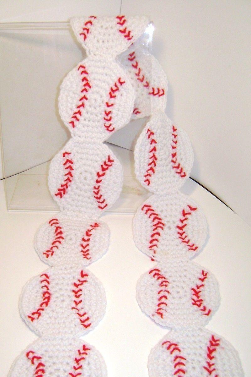 DIY Crochet Pattern for Baseball Scarf. $5.00, via Etsy. | CROCHET ...