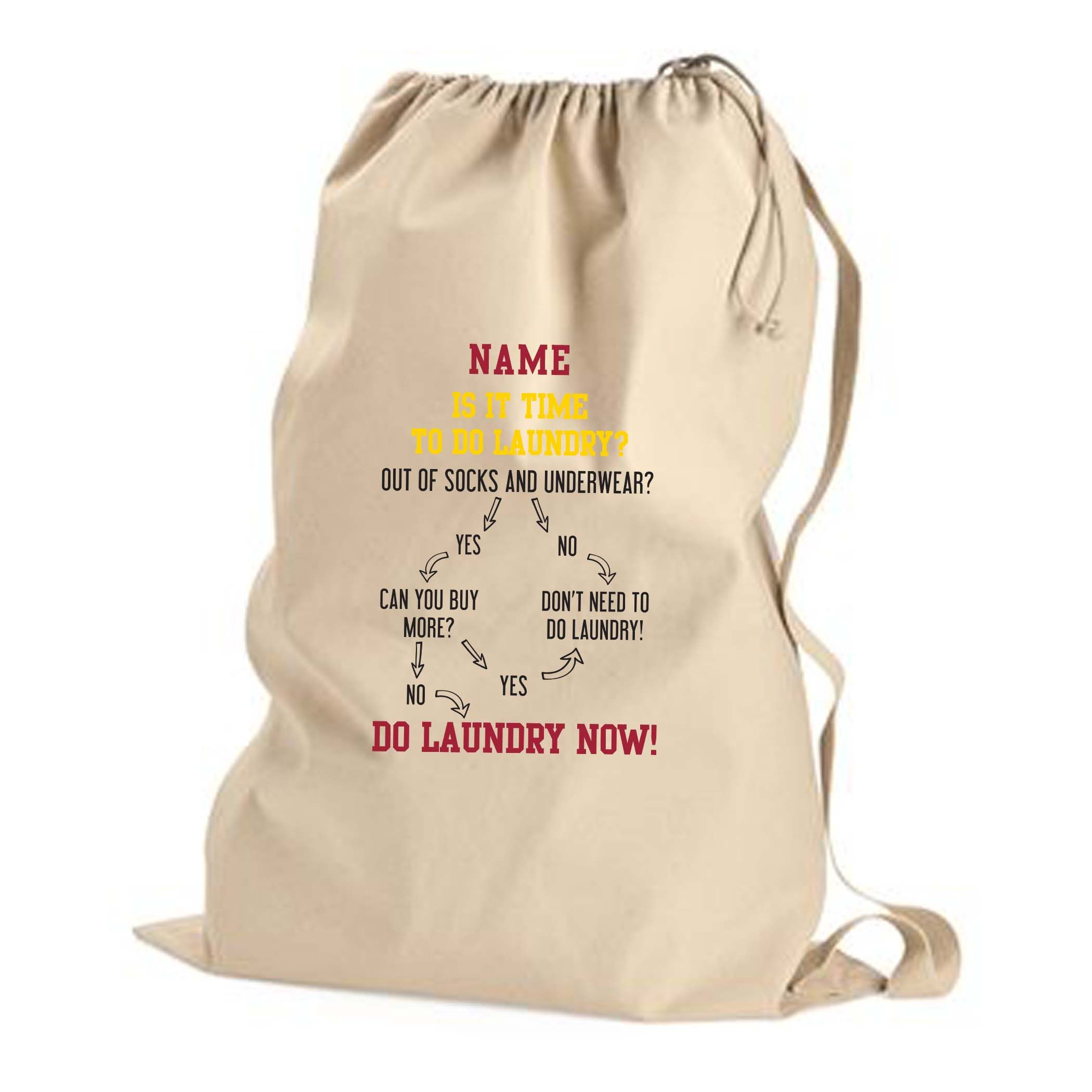 Laundry Flow Chart Custom Laundry Bag With The Name And Color Of