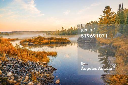 Algonquin Provincial Park Ontario Canada Fall Autumn  Ángeles Antolín Hoyos Stock Photo : Calm