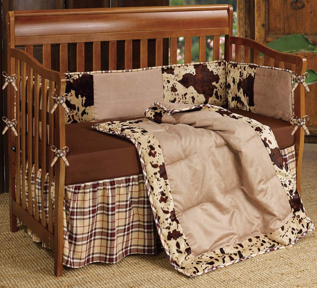 Baby cribs what to look for - Visit Lone Star Western Decor Right Now And Look At Our Range Of Western Bedding Such As This Baby Cowhide Crib Bedding Set