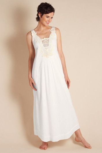 Isabella Gown - Long White Nightgown, Night Gowns, Sleepwear & Robes ...