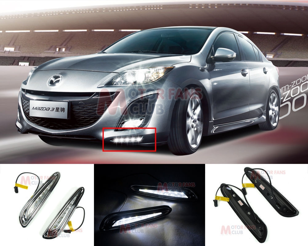 63.95$  Buy now - http://alihwq.worldwells.pw/go.php?t=2025960916 - hot sale LED Daytime Running Light For Mazda 3 Axela Car Fog Lamp DRL 2010 2011 2012 2013 for free shipping 63.95$